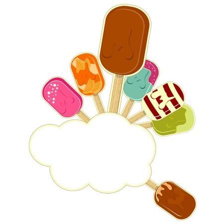 chocolate mousse: ice cream set on white background