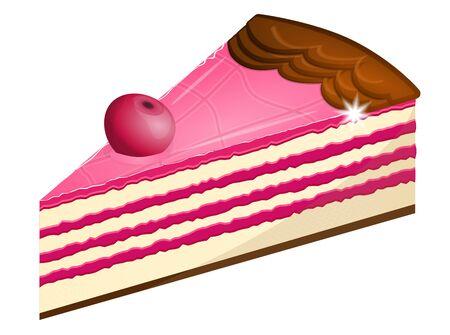 porcion de pastel: pastel de cereza