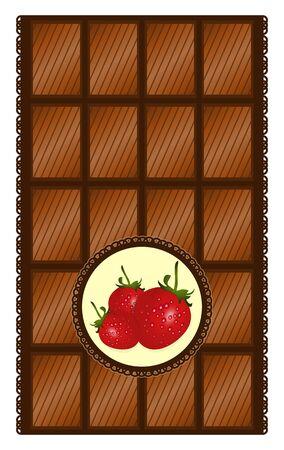 Czekoladowy z truskawkami - ilustracji wektorowych Ilustracje wektorowe