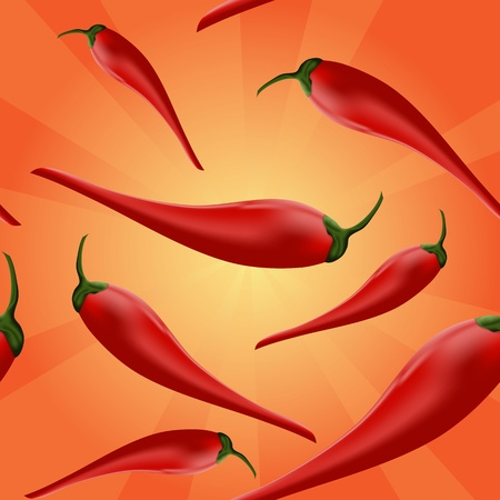 red hot pepper: chili peppers background - Vector illustration