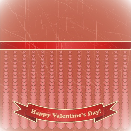 Cards for Valentine's Day in vintage style - vector illustration Stock Vector - 11881104