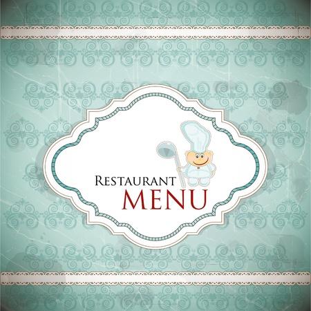 jasschort: Restaurant menu ontwerp in vintage stijl - vector afbeelding
