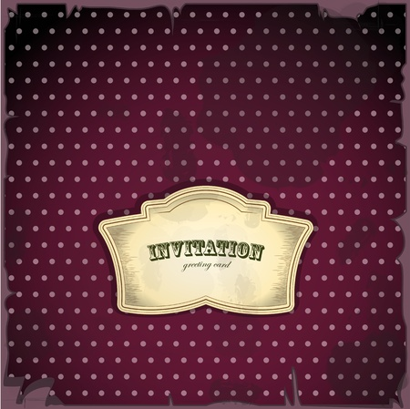Vintage card with place for text - scrapbook style - vector illustration Stock Vector - 11989817