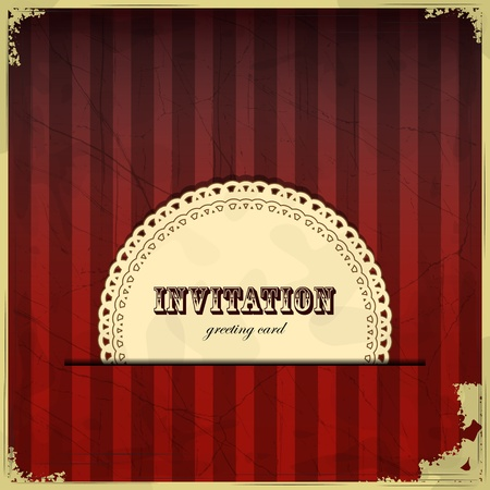 Vintage card with place for text - scrapbook style - illustration Vector