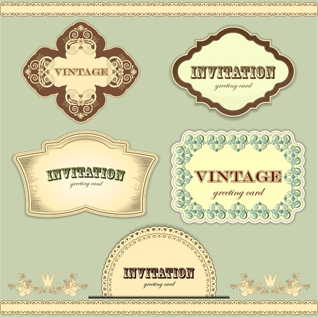 vintage labels set - vector illustration Vector