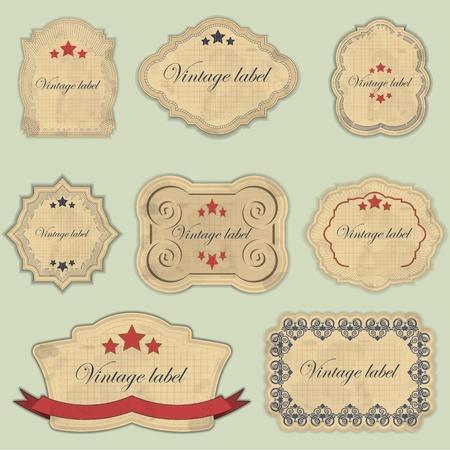 scrapbooking element: vintage labels set - vector illustration Illustration