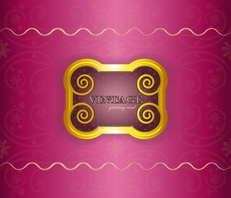 luxury background - vintage frame on silk - vector illustration Stock Vector - 12324675