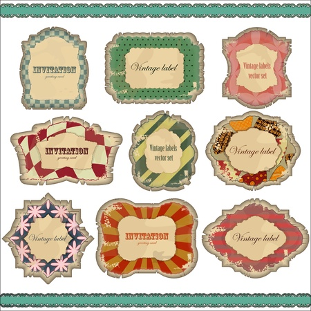 vintage labels set - vector illustration Vector
