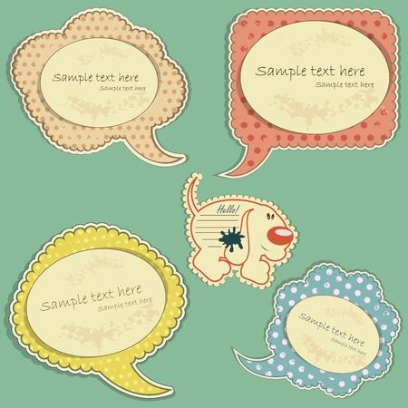 vintage labels set - vector illustration Illustration