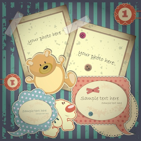 scrapbook cover: Scrapbook vintage design elements - vector illustration