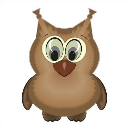 Owl isolated on white background - vector illustration
