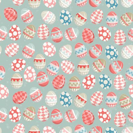 Easter Eggs -  old Easter seamless background in vintage style Stock Vector - 12801949
