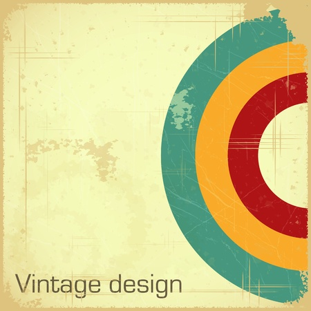 vintage design - retro postcard with place for text - Vector illustration Stock Vector - 13395598