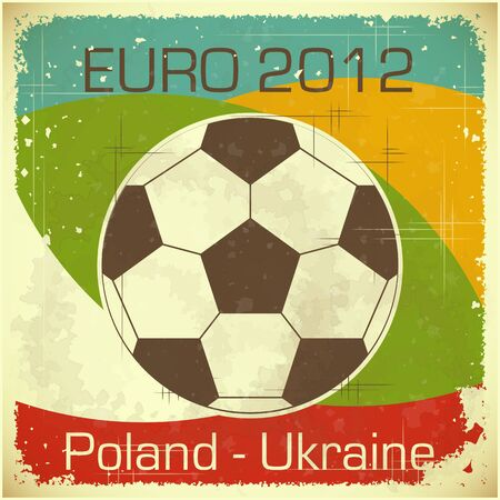 Euro 2012 Football card in retro style