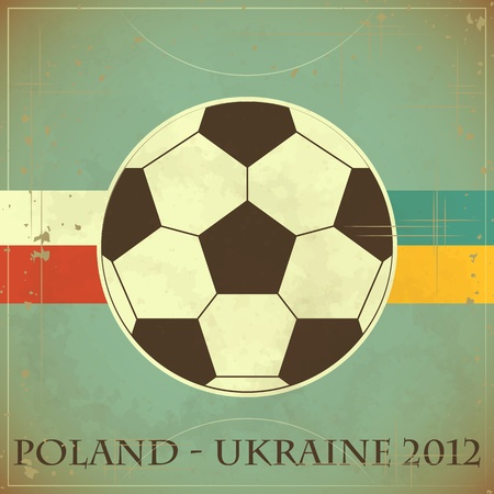 Euro 2012 Football card in Grunge style Vector
