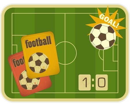 Football card in Retro Style - illustration Vector