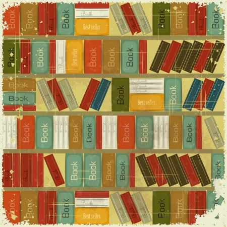 Vintage Book Background  Vector