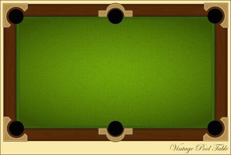 retro biljart-kaart - Vintage Pool Table met plaats voor tekst