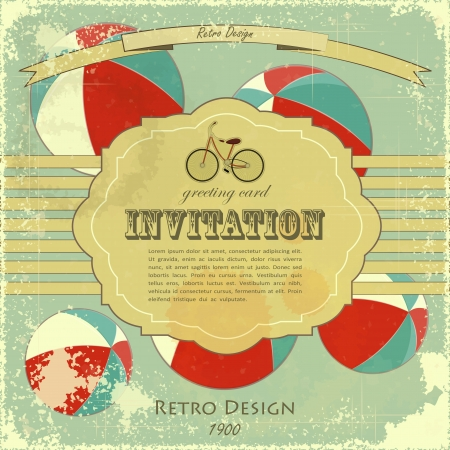 Vintage Circus Placard, Abstract retro Poster with place for text  Vector