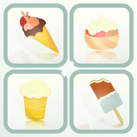 Ice Cream set labels - Vector illustration Vector