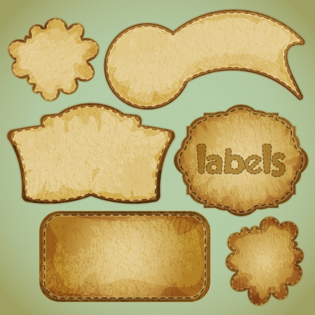 labels: retro labels set illustration