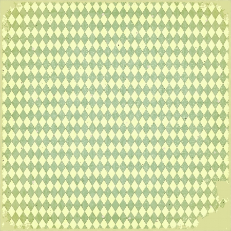 Grunge checkered background - old paper Vector