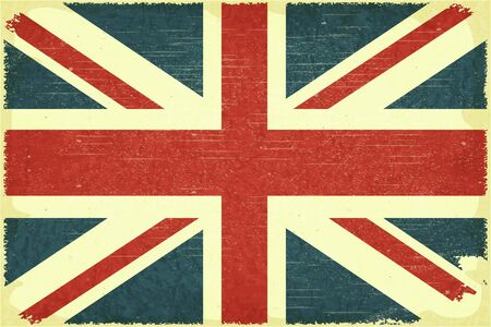 Grunge poster - British flag in Retro style Vector