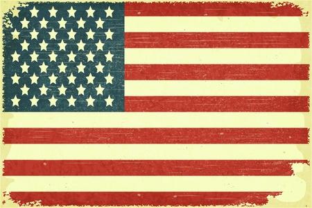 Grunge affiche - drapeau américain dans le style rétro Vecteurs