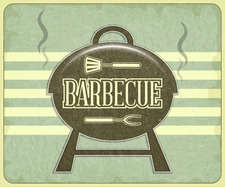 grilled: Retro Design Grill and BBQ Menu - illustration Illustration