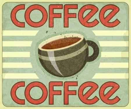 Retro Cover for Coffee Menu - vector illustration