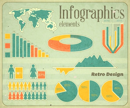 Vintage infographics set - vector illustration Vector