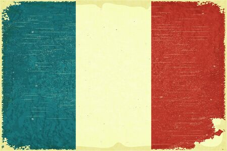 Grunge poster - French flag in Retro style - Vector illustration Stock Vector - 15966896