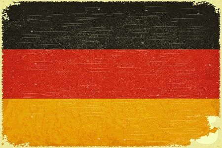 Grunge poster - German flag in Retro style - Vector illustration Stock Vector - 15966899