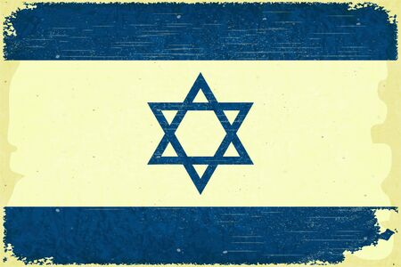 Grunge poster - Israel flag in Retro style - Vector illustration Vector