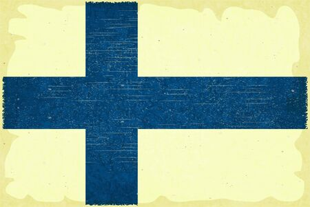 핀란드의: 그런 포스터 복고 스타일 - 핀란드어 플래그 - 벡터 일러스트 레이 션 일러스트