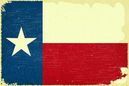 flagge: Grunge Plakat - Texas-Flagge im Retro-Stil - Vektor-Illustration