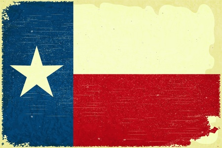 Grunge poster - Texas flag in Retro style - Vector illustration Vector