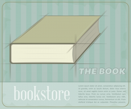 Retro poster for the book store.  Vector