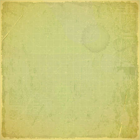 Old Vintage Background with Grunge Texture. Empty Paper with space for text. Vector illustration. Vector