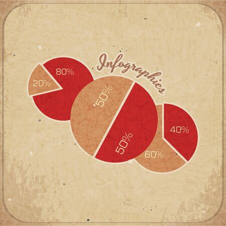 Vintage infographics card  Vector