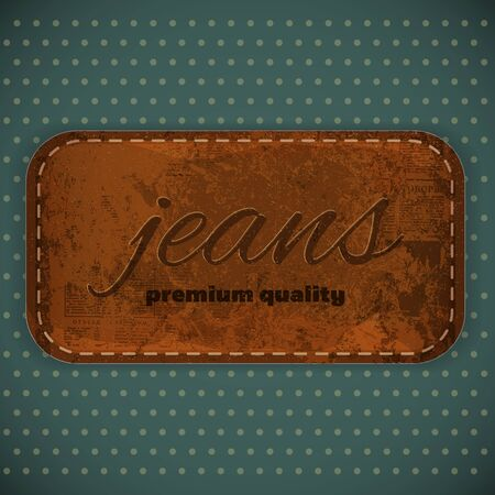 Jeans Label in Vintage Retro Style Vector
