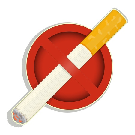 Sign No Smoking on white background Stock Vector - 18177991