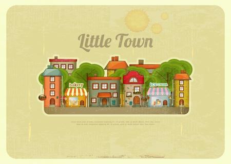 townhouses: Little Town. Duplex en un estilo retro