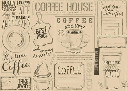 Template for Coffee Shop, Restaurant and Cafe.
