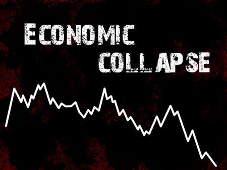 einsturz: Wirtschaftlichen Zusammenbruchs Lizenzfreie Bilder