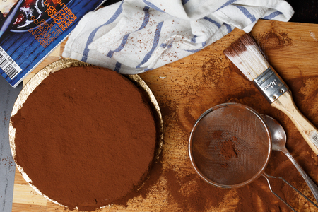 bolter: Chocolate cake in the making Stock Photo