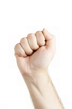 fist fight: Human hand gesture isolated. Fist. Fight sign.
