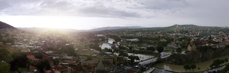 tbilisi: Tbilisi Downtown Panoramic Sunset View