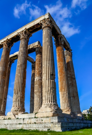 olympian: ruins of ancient temple of Zeus, Athens, Greece, light HDR Stock Photo