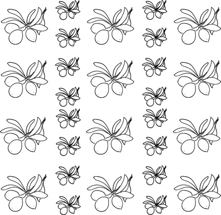 vector olive pattern Vector